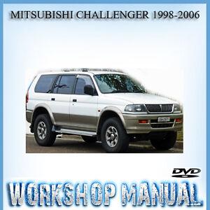 mitsubishi challenger 1998 2006 workshop service repair manual in rh ebay com au Mitsubishi Pajero 2009 Mitsubishi Pajero 2006