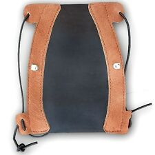 TRADITIONAL LEATHER ARCHERY ARM GUARD AG211 BLACK