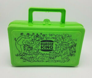 RARE-VINTAGE-Burger-King-Whirley-Industries-Plastic-LUNCH-BOX-or-Pencil-Box