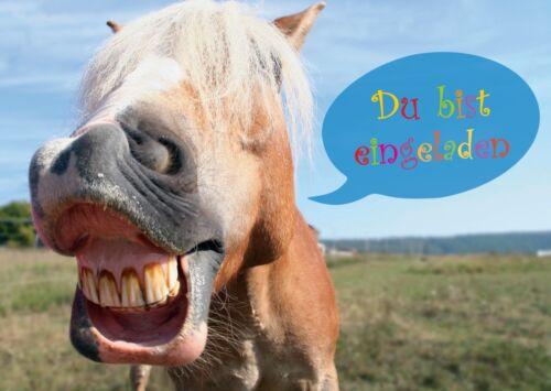 Pferde-Einladungskarten zum Kindergeburtstag, Geburtstagseinladungen Kinder