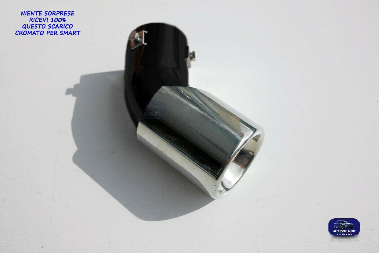 Universale 259671 Terminale di scarico per auto Terminale Silenziatore sportivo Acciaio inossidabile Cromo 55mm