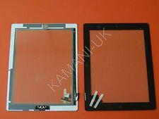 Per iPad 2 Touch Screen Digitalizzatore Ricambio Nero Con Pulsante Home Completo COLLA