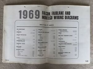 1969 Ford Falcon Fairlane And Montego Wiring Diagrams Ebay