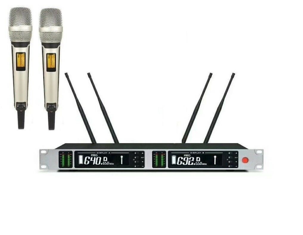 Dual Wireless Microphone System Diversity Karaoke SKM9000 Microphone