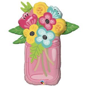 Flower-Bouquet-Mason-Jar-Supershape-Giant-Helium-Foil-Balloon-Floral