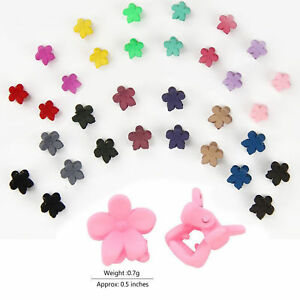 30-PCS-Kids-Baby-Plastic-Girls-Hairpins-Mini-Claw-Hair-Clips-Clamp-Flower