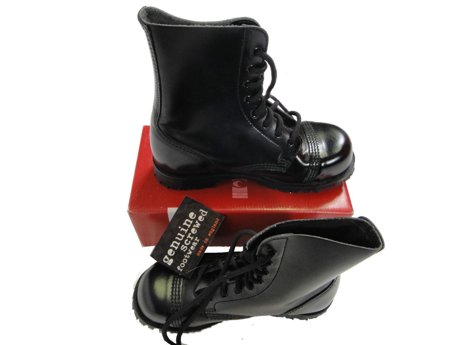 m_v0546 Herren Schuhe Underground Stiefel Gr. 6 sw. Stahlkappe