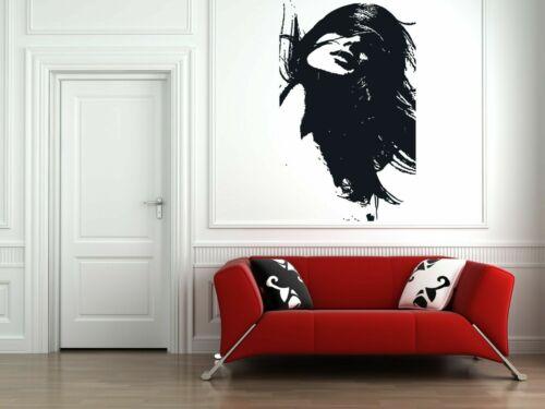 Wall Vinyl Sticker Decals Mural Room Design Art Woman Face Modern Decor bo652