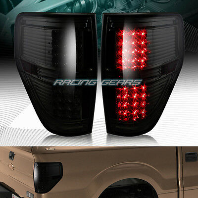 SMOKE LENS LED REAR BRAKE TAIL LIGHTS LAMPS FIT 09-14 FORD F150 F-150 PICKUP