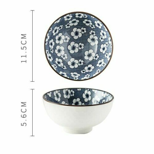 Details about  /Traditional Retro Style Ceramic Bowl Chinese Porcelain Tableware Kitchen Utensil