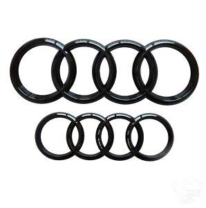 AUDI-insignia-emblema-Brillo-Negro-Frontal-y-Trasera-273x94mm-193x66mm-A3-A4-A5-A6-S-line