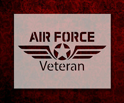 """USAF United States Air Force 8.5/"""" x 11/"""" Stencil FAST FREE SHIPPING"""