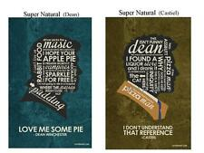 2 Quote Posters - SuperNatural (Castiel & Dean) -   11x17 New