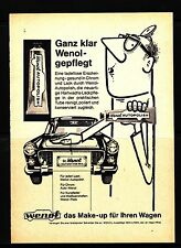 3w305/ Alte Reklame - von 1961 - WENOL - Das Make-up für Ihren Wagen