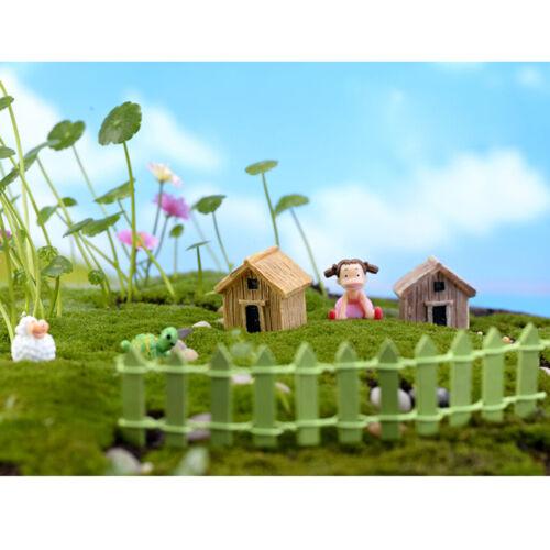 Ornamento da giardino in miniatura resina artigianale Fairy Dollhouse