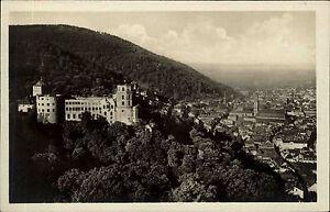 HEIDELBERG-um-1940-AK-Totalansicht-mit-Schloss-Castle-alte-Postkarte-ungelaufen