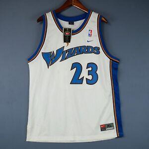 dd1d7a4fe Image is loading 100-Authentic-Michael-Jordan-Wizards-Nike-Swingman-Jersey-