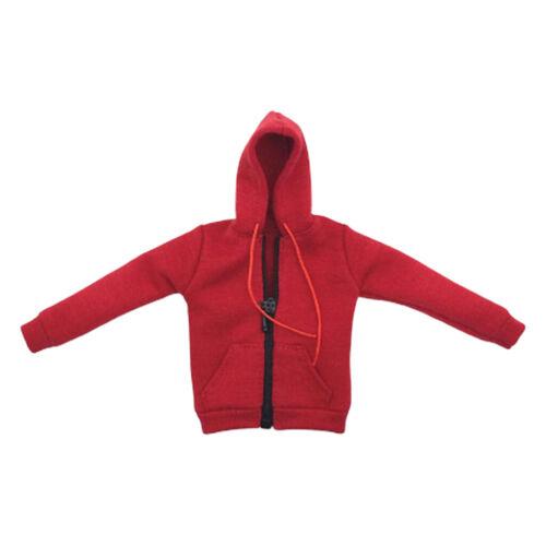 1//6 Female Figures Clothing Zip Up Hoodie Sweatshirt for 12/'/' Action Figure Accs