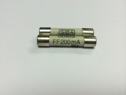 SIBA 7012540 FF200mA Fuse Very Quick Acting FF 200mA type 195 100 JPSF093