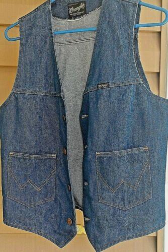 wrangler vest vintage made in usa mens