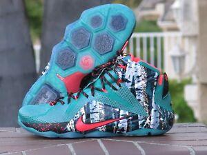 Nike Lebron 12 XII XMAS Men's Basketball Shoes 707558-363