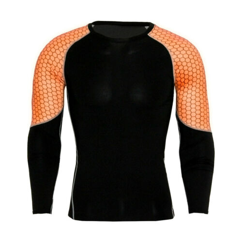 Men Compression Tights Base Layer Shirt Bodybuilding Fitness Long Sleeves Tops