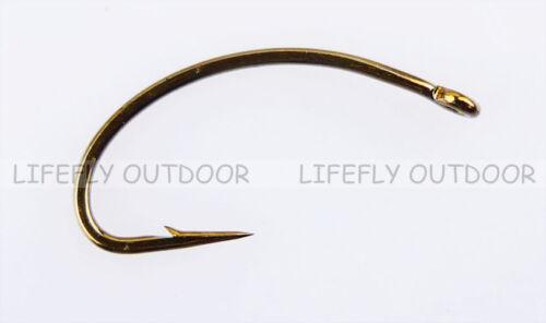 Fly Tying Pick Size // 100pcs C49S Caddies Fly Hooks Fly Fishing