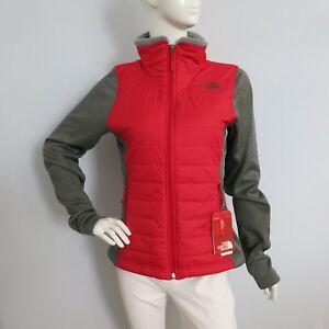 THE-NORTH-FACE-Women-039-s-Mashup-Full-Zip-Jacket-TNF-Red-TNF-Dark-Grey-HTR-sz-M-XL