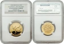 Bhutan 1994 Atlanta Olympics - Kick Boxing 5 Sertum Gold Proof Coin NGC PF 69