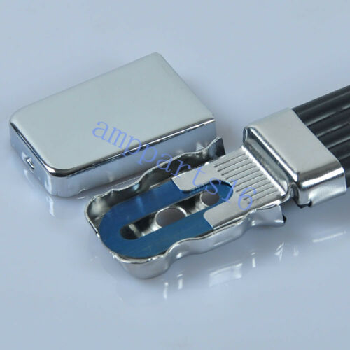 1pc Replacement Plexi Strap Handle Silver End For Tube Guitar Amplifier