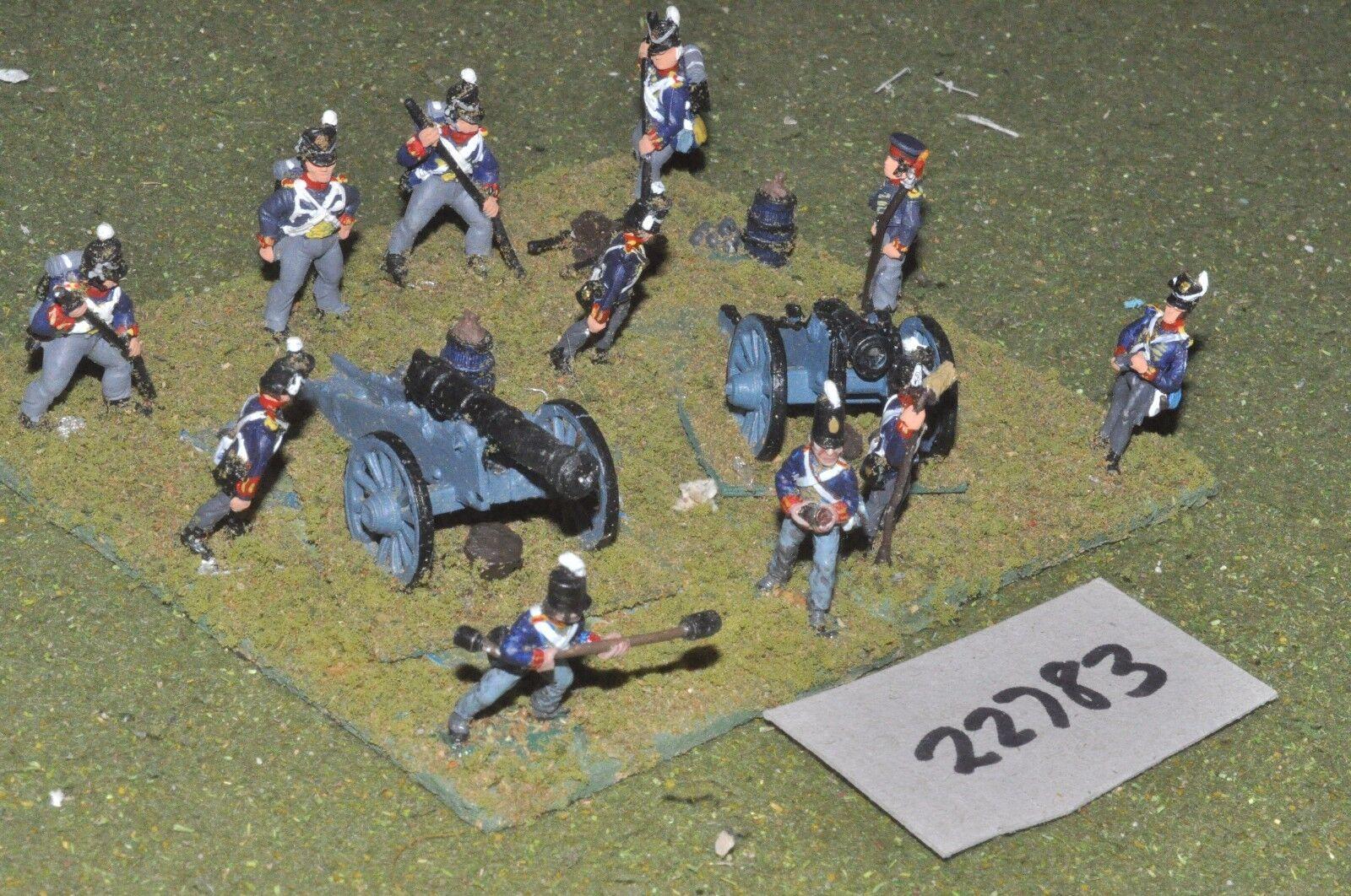 25mm napoleonic   british - foot 2 guns & crews - art (22783)