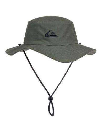 Quiksilver Bushmaster Bucket Hat Camo Brand New Black Steel Grey