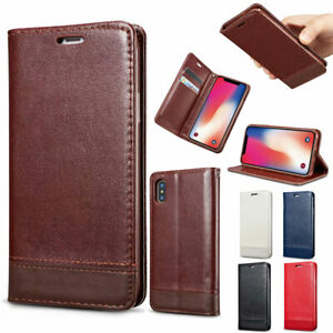 For-iPhone-XS-Max-Xr-X-8-7-Slim-Leather-Wallet-Card-Case-Slot-Flip-Cover-Stand
