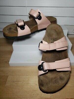 Birki's by Birkenstock Madura Double Strap Pink Patent Sandals Slides EU 40L9 | eBay
