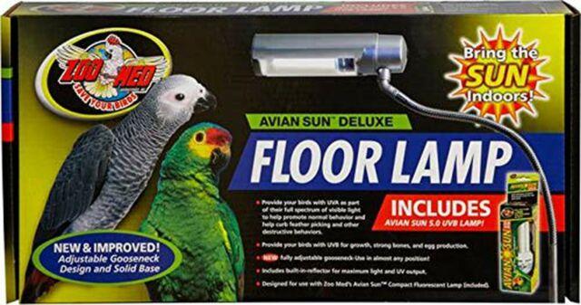 Zoo Med Labs Aviansun Deluxe Floor Lamp With Aviansun For
