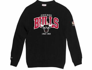 Mitchell und Ness Chicago Bulls Sweatshirt HWC black schwarz