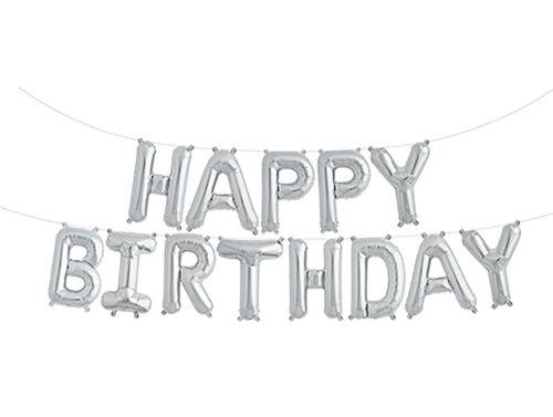 Feliz Cumpleaños Globos De Papel De Aluminio carta Banner empavesado Fiesta De Cumpleaños Nuevo Todos los Santos