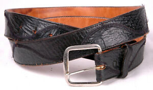 Nocona-Boot-Company-Beltmakers-Collection-Leather-Belt-Size-46-Black-Buckle-2501