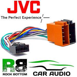 jvc kd x320bt model car radio stereo 16 pin wiring harness loom iso rh ebay co uk