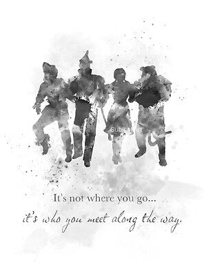 Art Print Wizard Of Oz Quote Wall Art Home Decor Movie Gift Black And White Ebay