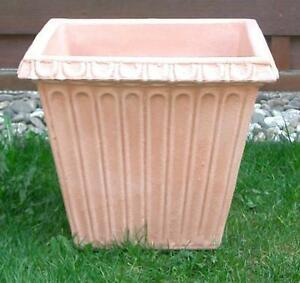 Pflanzkuebel-Blumenkuebel-40-x-40cm-Kunststoff-Terracotta-Optik-Nostalgie