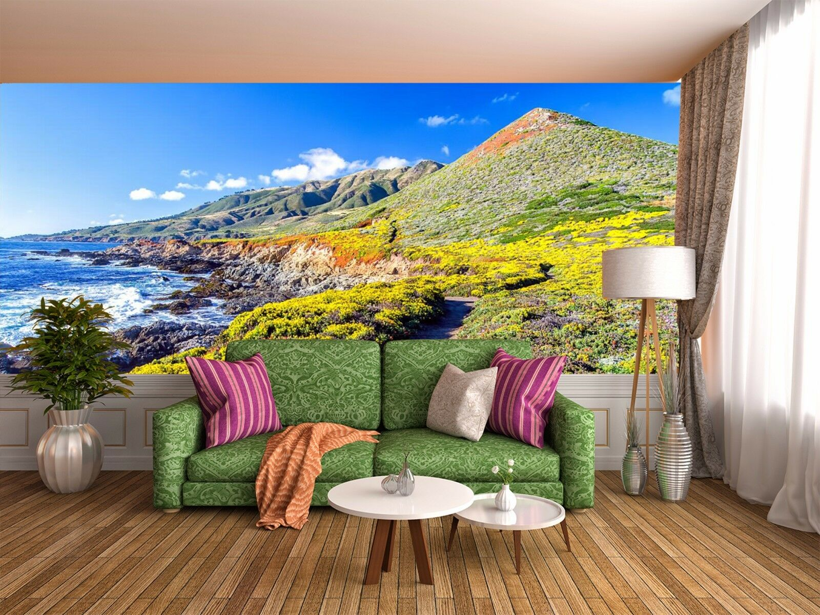 3D Waves island 2646 Wall Paper Wall Print Decal Wall Indoor Murals Wall US