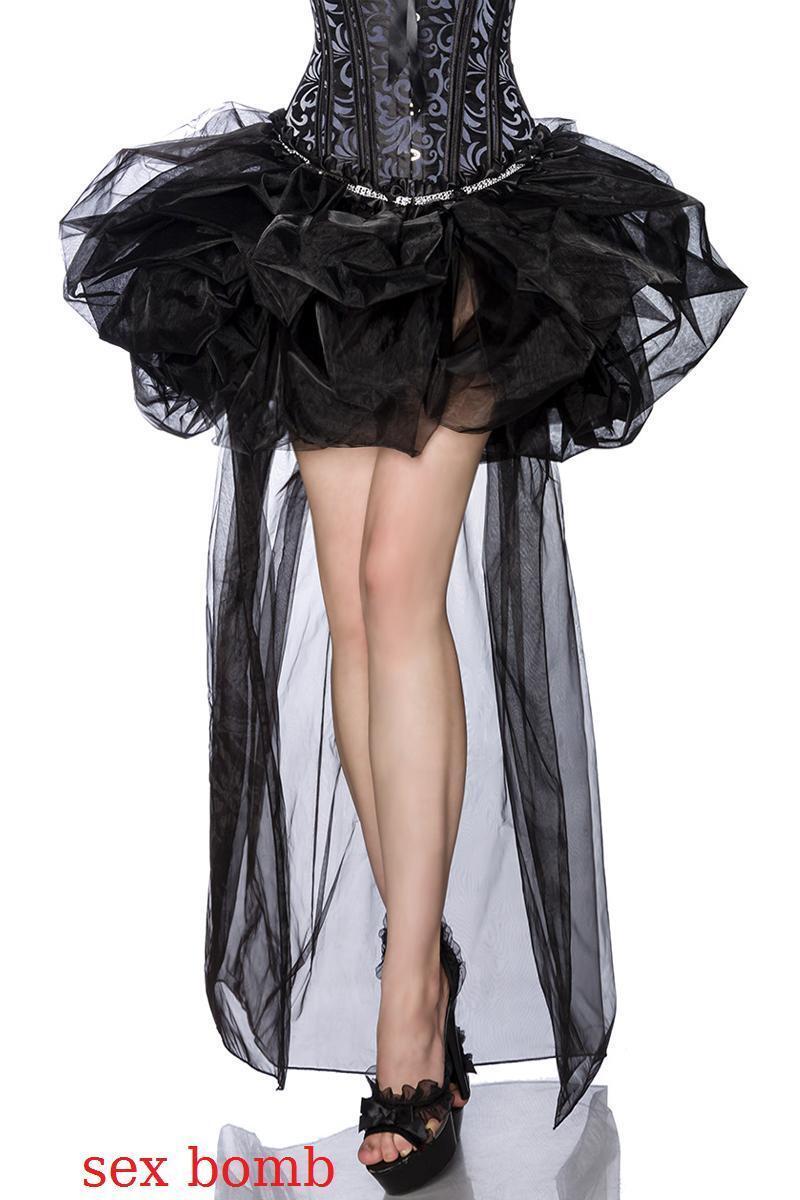 Sexy GONNA BURLESQUE a palloncino ORGANZA taglia S M (40 42) L XL (44 46) black