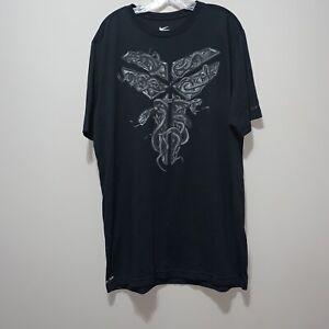 Men-039-s-Nike-Dri-Fit-Lakers-Kobe-Bryant-Black-Mamba-Short-Sleeve-T-shirt-Size-XLT