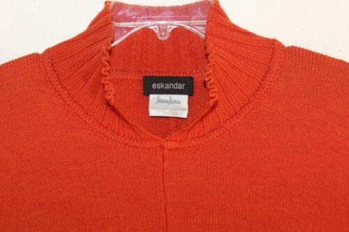 taille oversize Pull basse s oversize orange Eskandar O 8SWnHpxp7