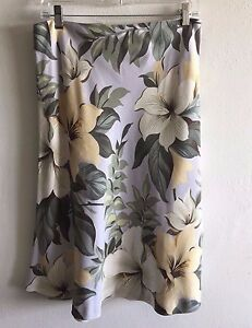 Tommy-Bahama-Silk-Skirt-Island-Floral-Hibiscus-Women-039-s-Size-10-New