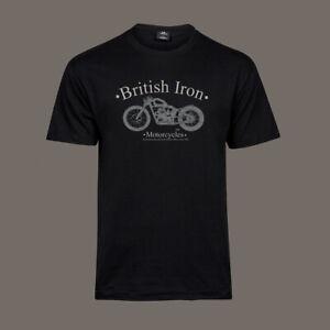 T-Shirt-British-Iron-Bobber-Chopper-Motorcycle-Biker-Kustom-Ton-Up-ACE-S-5XL