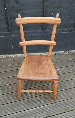 Lovely Arts And Crafts Small Rustic Wooden Chair In Very Good Condition Ebay
