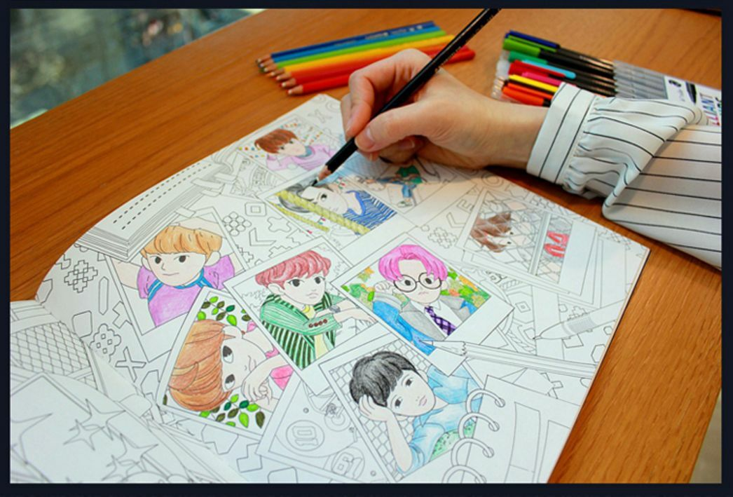 EXO A Day In Exoplanet Coloring Book Goods Member Catoon SM Hobby Color Therapy