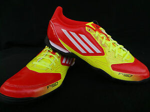 ADIDAS-Coup-de-pied-chaussure-F5-TRX-TF-Football-jaune-rouge-42-42-2-3-43-44